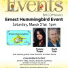 March 31: 'Ernest Hummingbird' Book Reading, Signing at Barnes & Noble
