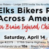 April 14: Local Elks Join Bikers Rally for Brain-Injured Children