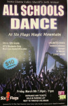March 9: 'All Schools Dance' at Six Flags Magic Mountain