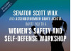 April 7: Wilk, Acosta Host Women's Safety, Self-Defense Workshop