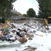 Firefighters Douse Trash Truck Fire in Canyon Country