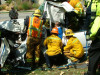 Man Extricated from Vehicle after Traffic Collision