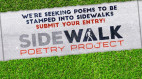 Oct. 31: Deadline to Submit Poems for 2020 Sidewalk Poetry Project