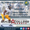 Sept. 29: No. 4 Canyons to Host Golden West in Week 5 Matchup