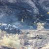 Crash Injures 2, Sparks Brush Fire off Vasquez Canyon Road