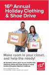 Flair Cleaners Annual Holiday Clothing, Shoe Drive Begins Friday