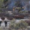 Fire Singes Brush Near Bouquet Junction