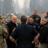 Brown Surveys Fire Damage, Orders Streamlined Cleanup, Recovery Aid