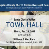 Feb. 28: Sheriff Oversight Panel to Host SCV Town Hall Meeting