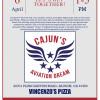 April 6: Cajun's Aviation Dream Vincenzo's Fundraiser