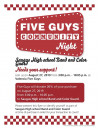 Saugus High Band & Color Guard to Hold Fundraiser at Five Guys