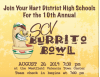 Fox Sports West Staff, NFL Players from Hart to Take Part in Burrito Bowl