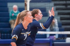 TMU Women's Volleyball Takes Down No. 13 Rocky Mountain