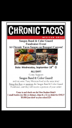 Sept. 18: Saugus High School Band & Color Guard Fundraiser at Chronic Taco