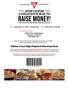 Sept. 18: Hart Regiment Band & Color Guard FUNdraiser at BJ's