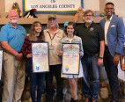 Truger, Clark, Pineda are Nature Center Volunteers of Year; County Honors Docents