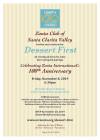 Nov. 8: Zonta Club SCV's 'Dessert First' Centennial Event