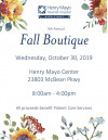 Oct. 30: Henry Mayo Newhall Hospital Auxiliary Fall Boutique