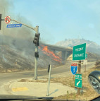 Saddleridge Flames Lick at 5, 14 Freeways Friday