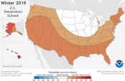 Feds Predict Warmer, Drier Winter 2019-2020 for California