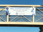 Small Business Saturday Paseo Banners Installed Across SCV Bridges