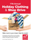 Flair Cleaners Holiday Clothing, Shoe Drive Now Till Dec. 31