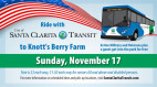 Nov. 17: City Bus Service to Knott's for 'Military Tribute Days'