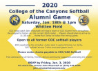 Jan. 18: COC Softball Alumni Game