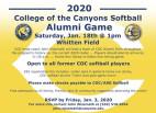 Jan. 18: COC Softball Alumni Game