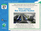 Jan. 27: Vista Canyon Transfer Center Groundbreaking