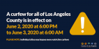 L.A. County Extends Curfew