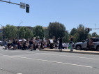 Hundreds of Protestors Gather in SCV; 'Suspicious Package' Investigated
