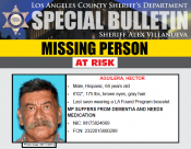 Detectives Seek Help to Find At-Risk Man Last Seen in Valencia