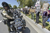 Hundreds Turn Out for Peaceful Protest March in Santa Clarita