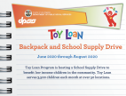 County Seeking Donations for Backpack & School Supply Drive