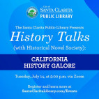 Santa Clarita Public Library to Host Final History Talks Series