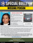 LASD Seek Public's Help in Locating Missing Santa Clarita Woman