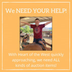 Carousel Ranch Seeks Donations of Auction Items for 'Heart of the West At Home'