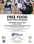 Aug. 12: Drive-Thru Food Distribution at Castaic Sports Complex