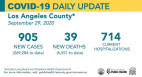 Tuesday COVID-19 Roundup: 269,284 Cases Countywide, 39 New Deaths; 6,156 SCV Cases