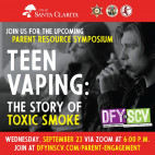 City to Present Virtual Parent Symposium on Dangers of Teen Vaping