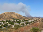 'Martindale' Brush Fire in Bouquet Canyon, Visible from SCV, Threatens Strctures