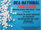 Oct. 24: SCV Sheriff's Station to Host Drug Takeback Day