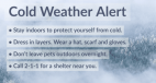 Wind Chill Forecast Prompts SCV Cold Weather Alert Friday, Saturday