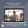 Dec. 2: DFY in SCV Parent Workshop on 'A Zooming World'