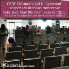 May 8: LASD Announce Jail Visitations to Resume at Century Regional Detention Facility