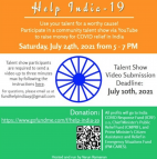 AOC Freshman Hosting Virtual Talent Show Benefiting India's COVID-19 Relief