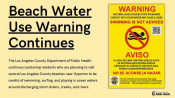 Public Health Extends Water Use Warning for L.A. County Beaches