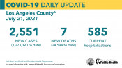 Wednesday COVID-19 Roundup: Henry Mayo Reports Two Additional Deaths; L.A. County Reports 20-Fold Case Increase Since June