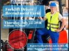 July 22: American Job Center Hosts Forklift Driver Recruitment Event